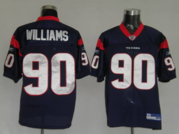Texans Mario Williams #90 Blue Stitched NFL Jersey