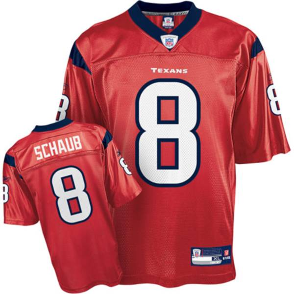 Texans #8 Matt Schaub Red Stitched NFL Jersey