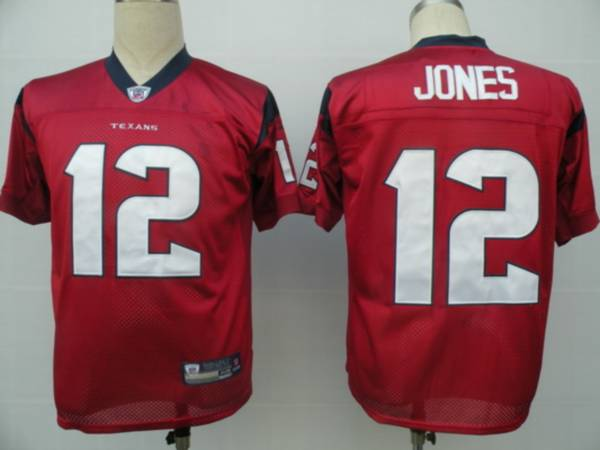 Texans #12 Jacoby Jones Red Stitched NFL Jersey