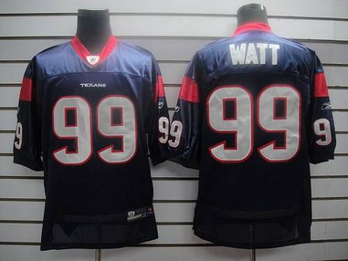 Texans #99 J.J.Watt Blue Stitched NFL Jersey