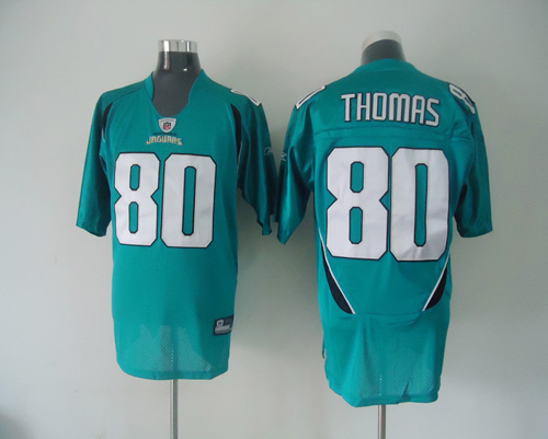 Jaguars #80 Mike Thomas Green Stitched NFL Jersey