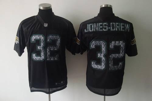 Sideline Black United Jaguars #32 Jones-Drew Black Stitched NFL Jersey