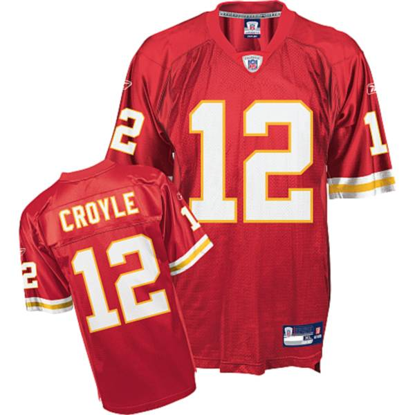 Chiefs #12 Brodie Croyle Red Stitched NFL Jersey