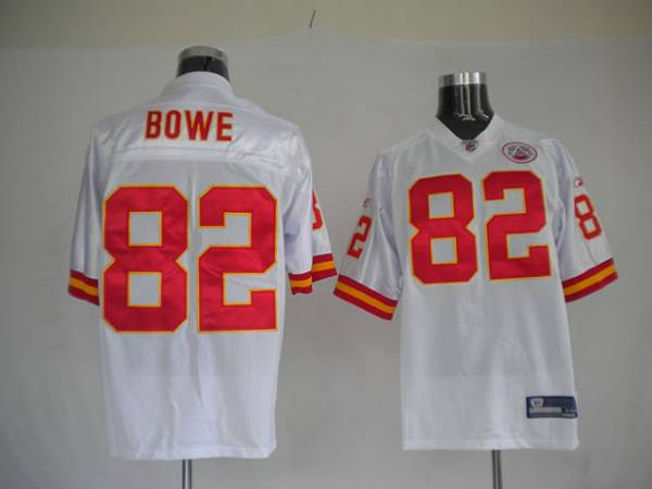 Chiefs #82 Dwayne Bowe White With AFL 50 Anniversary Patch Stitched NFL Jersey