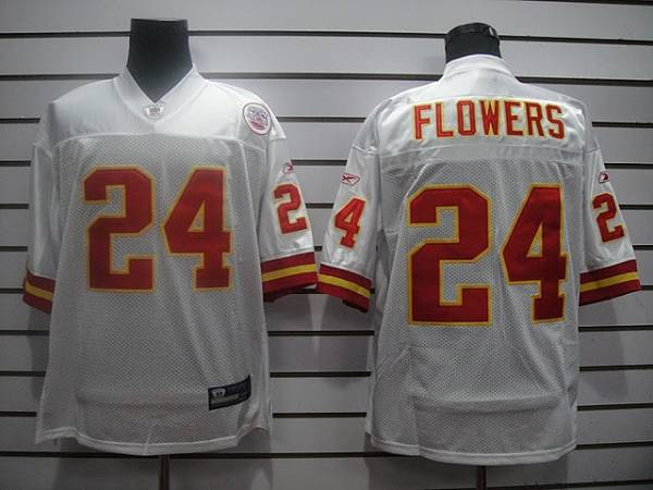 Chiefs #24 Brandon Flowers White Stitched NFL Jersey