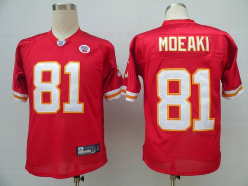 Chiefs #81 Tony Moeaki Red Stitched NFL Jersey