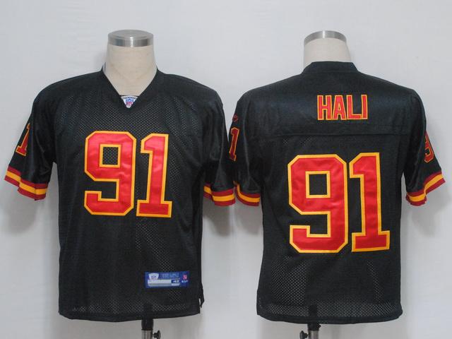 Chiefs #91 Tamba Hali Black Stitched NFL Jersey