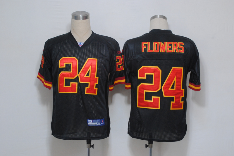 Chiefs #24 Brandon Flowers Black Stitched NFL Jersey