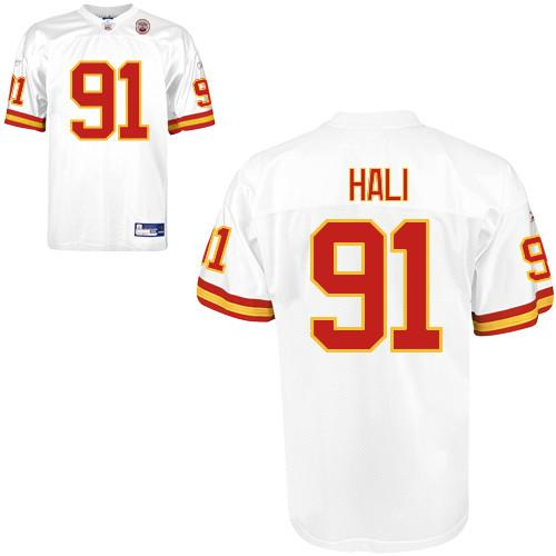 Chiefs #91 Tamba Hali White Stitched NFL Jersey