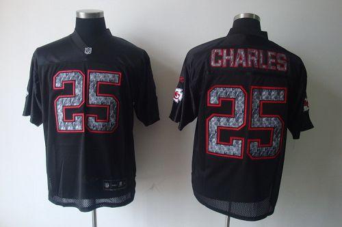 Sideline Black United Chiefs #25 Jamaal Charles Black Stitched NFL Jersey