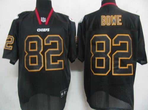 Chiefs #82 Dwayne Bowe Lights Out Black Stitched NFL Jersey
