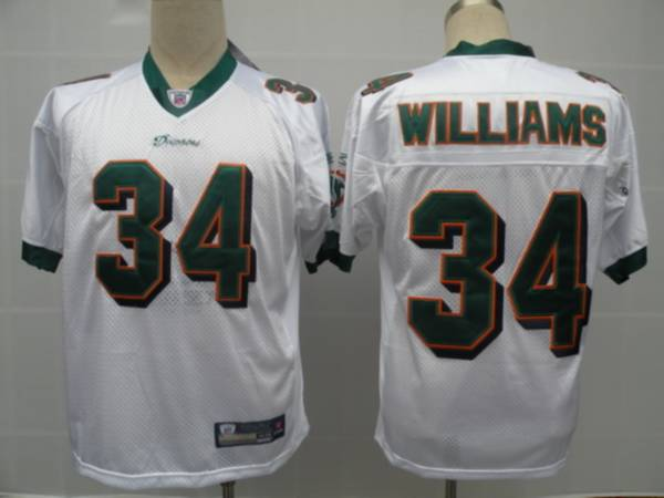 Dolphins #34 Ricky Williams White Stitched NFL Jersey