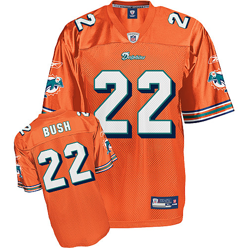 Dolphins #22 Reggie Bush Orange Stitched NFL Jersey