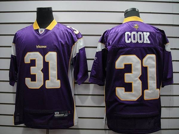 Vikings #31 Chris Cook Purple Stitched NFL Jersey