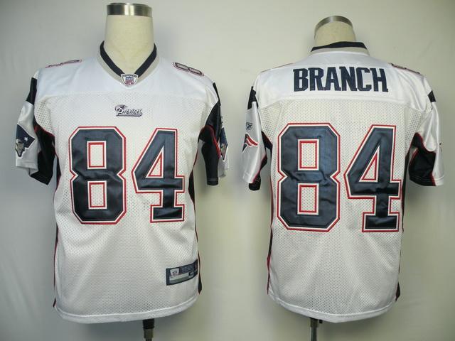 Patriots #84 Deion Branch White Stitched NFL Jersey
