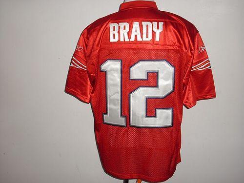 Patriots #12 Tom Brady Red QB Practice Stitched NFL Jersey