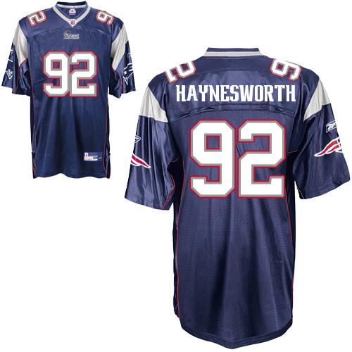 Patriots #92 Albert Haynesworth Dark Blue Stitched NFL Jersey
