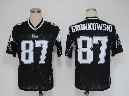 Patriots #87 Rob Gronkowski Black Shadow Stitched NFL Jersey