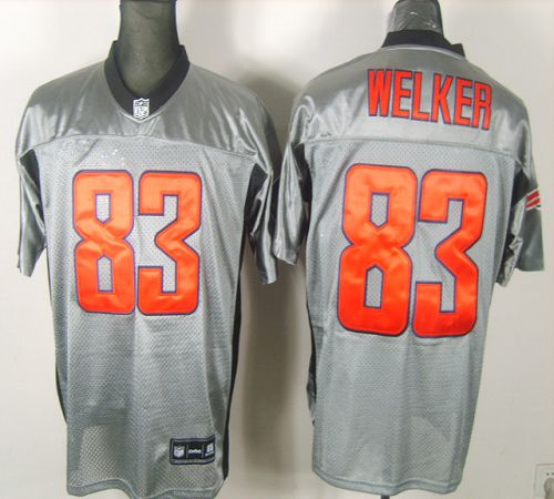 Patriots #83 Wes Welker Grey Shadow Stitched NFL Jersey