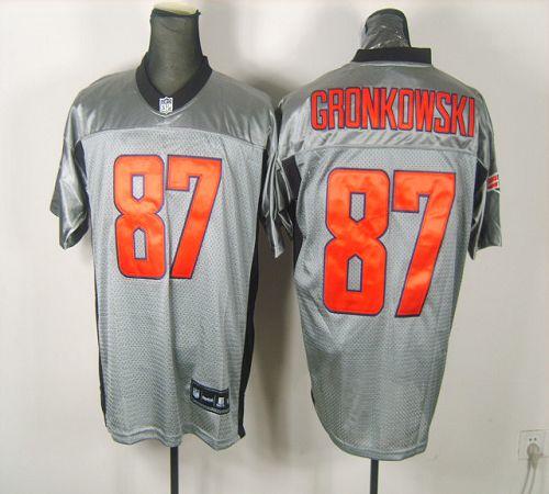 Patriots #87 Rob Gronkowski Grey Shadow Stitched NFL Jersey