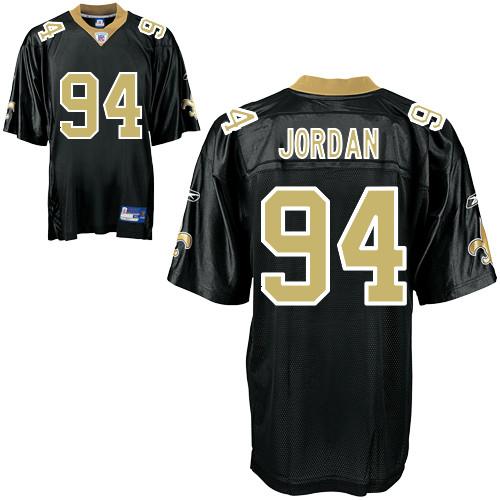 Saints #94 Cameron Jordan Black Stitched NFL Jersey