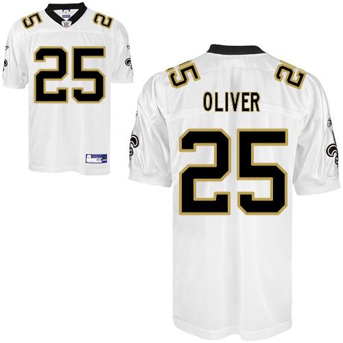 Saints #25 Paul Oliver White Stitched NFL Jersey