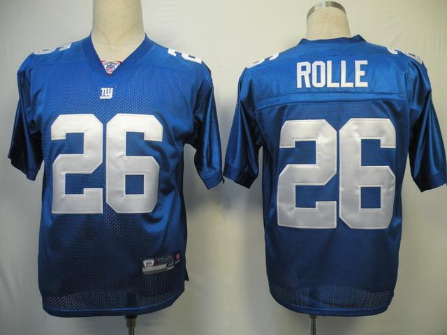 Giants #26 Antrel Rolle Blue Stitched NFL Jersey