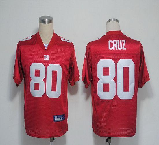 Giants #80 Victor Cruz Red Stitched NFL Jersey