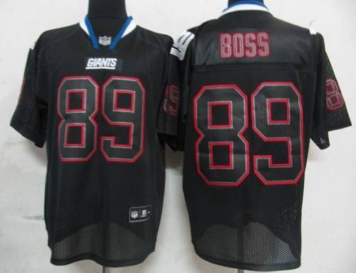 Giants #89 Kevin Boss Lights Out Black Stitched NFL Jersey
