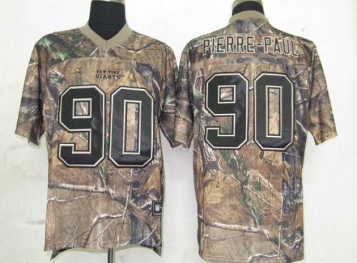 Giants #90 Jason Pierre-Paul Camouflage Realtree Collection Stitched NFL Jersey