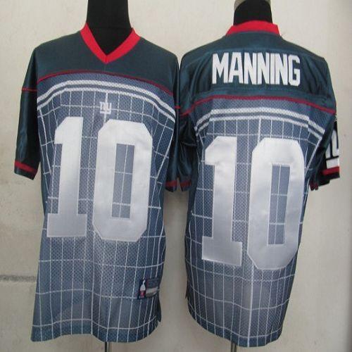 Giants #10 Eli Manning Grey Stitched NFL Jersey