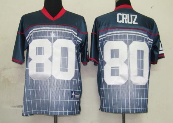 Giants #80 Victor Cruz Grey Stitched NFL Jersey