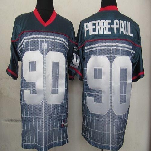 Giants #90 Jason Pierre-Paul Grey Stitched NFL Jersey