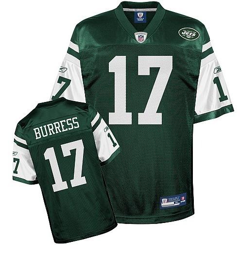 Jets #17 Plaxico Burress Green Stitched NFL Jersey