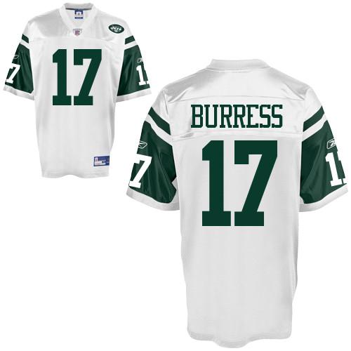 Jets #17 Plaxico Burress White Stitched NFL Jersey