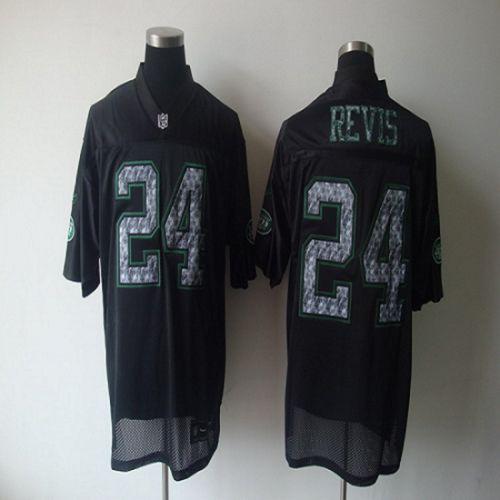 Sideline Black United Jets #24 Darrelle Revis Black Stitched NFL Jersey