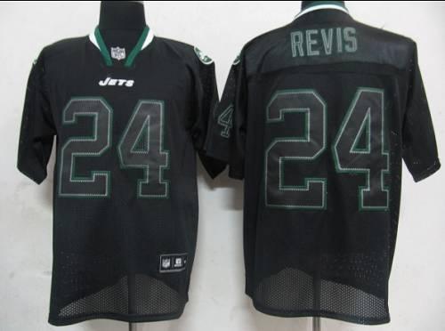 Jets #24 Darrelle Revis Lights Out Black Stitched NFL Jersey