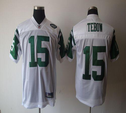Jets #15 Tim Tebow White Stitched NFL Jersey