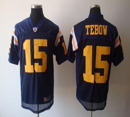 Jets #15 Tim Tebow Blue Alternate Stitched NFL Jersey