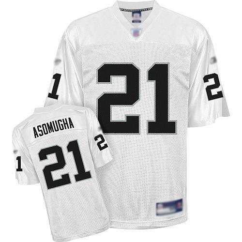 Raiders #21 Nnamdi Asomugha White Stitched NFL Jersey