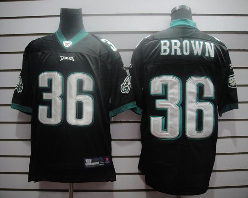 Eagles #36 Ronnie Brown Black Stitched NFL Jersey