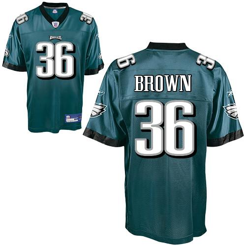 Eagles #36 Ronnie Brown Green Stitched NFL Jersey