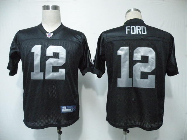Raiders #12 Jacoby Ford Black Stitched NFL Jersey