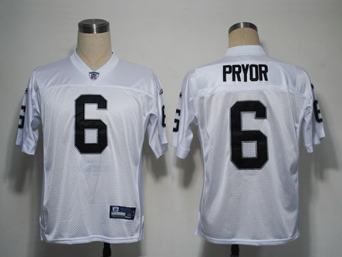 Raiders #6 Terrelee Pryor White Stitched NFL Jersey