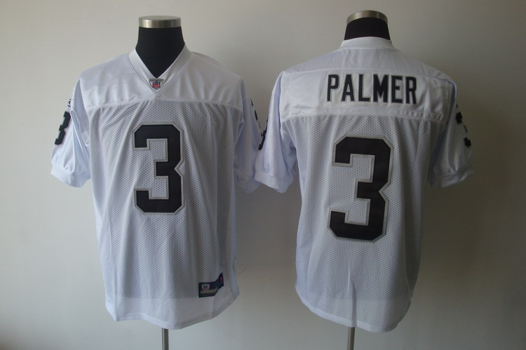 Raiders #3 Carson Palmer White Stitched NFL Jersey