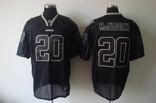 Raiders #20 Darren McFadden Lights Out Black Stitched NFL Jersey