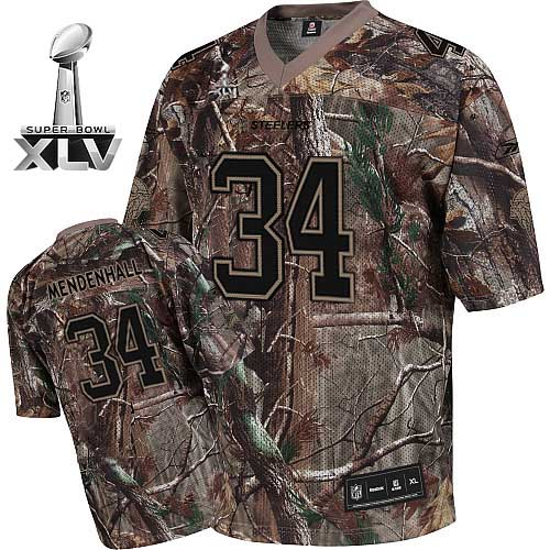 Steelers #34 Rashard Mendenhall Camouflage Realtree Super Bowl XLV Stitched NFL Jersey