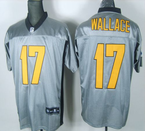 Steelers #17 Mike Wallace Grey Shadow Stitched NFL Jersey