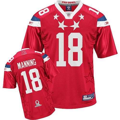 Colts #18 Peyton Manning 2011 Red Pro Bowl Stitched NFL Jersey