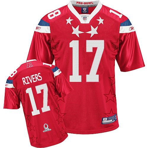 Chargers #17 Philip Rivers 2011 Red Pro Bowl Stitched NFL Jersey